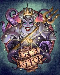 Diamond Painting Ursula The Sea Witch Kit - Wix Website Ideas - DIY your own website with Wix. - Diamond Painting Ursula The Sea Witch Kit Dark Disney, Disney Love, Disney Art, Disney Villains Art, Disney Villian, Ursula Disney, Mermaid Disney, Sea Witch, Witch Art