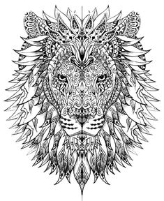 I love to color! So I'm totally loving this adult coloring trend! and I have a SUPER fun Activity to do with these free coloring pages HERE but for today I decided to link to over 35 of my favoritest coloring pages out there!  I also have THIS coloring book and it's super fun! (aflink) […] Chest Tattoo, Arm Tattoo, Colour Images, Silhouette Cameo, Lion Sculpture, Arms, Adult Coloring, Dog Cat, Painting & Drawing
