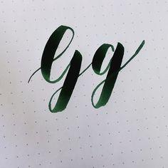 • Letter Gg • Brush Pen: Koi Coloring Brush Pen Paper: Rhodia Dot Pad Speed: Real Time #gs_abcs #abcs_g #practicewithgs #handletteredABCs #handletteredABCs_2016