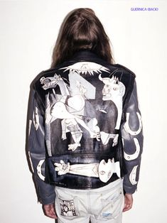 ::: OutsaPop Trashion ::: DIY fashion by Outi Pyy :::: Bad ass painted leather jackets
