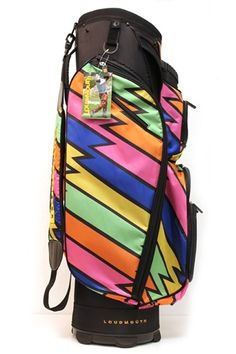 Cart Bag by Molhimawk with Loudmouth Golf Print - Lightning Rod. Buy now @ ReadyGolf.com