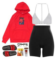 A fashion look from November 2016 featuring SPANX shorts, Topshop bras and Givenchy sandals. Browse and shop related looks. Cute Lazy Outfits, Swag Outfits For Girls, Chill Outfits, Cute Swag Outfits, Teenager Outfits, Dope Outfits, Teen Fashion Outfits, Trendy Outfits, Grunge Outfits