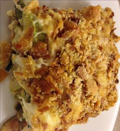 Zucchini Au Gratin This is one of our FAVORITE side dishes now! My husband, who does not even like zucchini, totally loved this dish! Trim Healthy Recipes, Trim Healthy Momma, Low Carb Recipes, Snack Recipes, Cooking Recipes, Dinner Recipes, Delicious Recipes, Vegetarian Recipes, Dessert Recipes