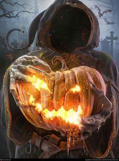 halloween - Digital Art gallery, featured artists and wallpapers. Halloween Eve, Samhain Halloween, Halloween Artwork, Halloween Pictures, Halloween Wallpaper, Halloween Horror, Halloween Design, Holidays Halloween, Vintage Halloween