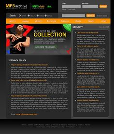 Portal Music Website Templates by Lovely