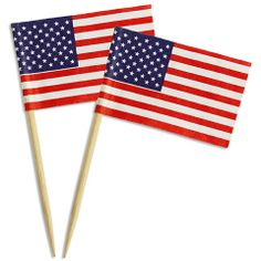 American Flag Picks  www.LayerCakeShop.com