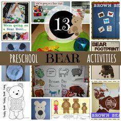 Preschool Bear Activities
