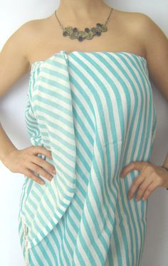 Perfect for me and the bridesmaids for a spa day! Turkish Bath Towel  Peshtemal Ecofriendly Beach by TheAnatolian, $24.00