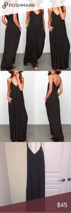 GORGEOUS POLKA DOT MAXI !!😍😍 Super flowy and comfy and gorgeous ! Dresses Maxi