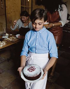 Try this recipe for Salted Butter Chocolate Cake from French food blogger Mimi Thorisson's cookbook, French Country Cooking: Meals And Moments From A Village In The Vineyards.
