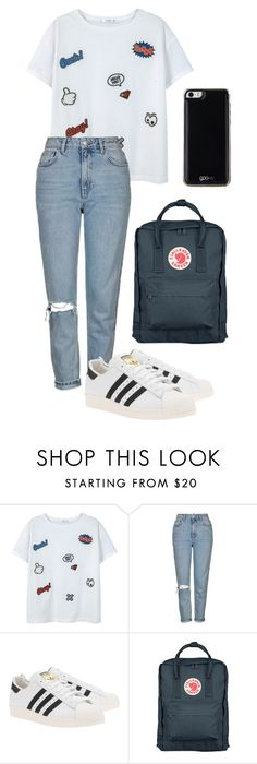 """Untitled #56"" by spisakreka ❤ liked on Polyvore featuring MANGO, Topshop, adidas Originals, Fjällräven and Gooey"