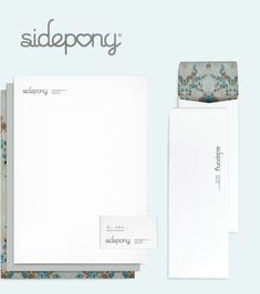 Sidepony logo and stationary - Design by Arlo Inc., Chicago IL
