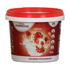 Protein Porridge 100 g Best Meal Replacement, Porridge Oats, Drinking Tea, Beverages, Drinks, Gourmet Recipes, Protein, Strawberry, Nutrition
