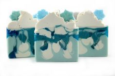 Ice Castle Soap / Frozen Soap / Cold Process Soap / Shea Butter Soap / Handmade Soap / Artisan Soap / Soap