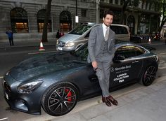 David Gandy outside the GQ London Collections Men closing party on June 15, 2015 in London