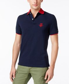 Tommy Hilfiger Men's Kade Tailored-Fit Pique Polo