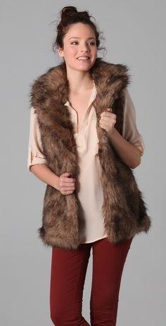 BB Dakota Ladonna Faux Fur Vest - StyleSays