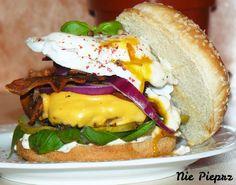 Domowy hamburger Hamburger, Sandwiches, Ethnic Recipes, Food, Random Stuff, Essen, Burgers, Meals, Paninis