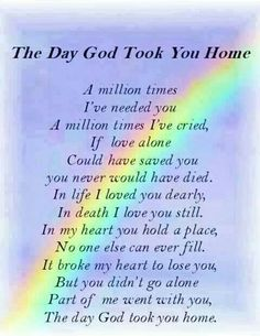 You will be in my thoughts, Prayers and Heart Forevermore
