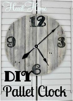 Projects Pallet DIY Pallet Clock Tutorial - Pallet Projects - 150 Easy Ways to Build Pallet Projects - DIY Easy Woodworking Projects, Diy Pallet Projects, Pallet Ideas, Woodworking Tools, Popular Woodworking, Wood Projects To Sell, Woodworking Quotes, Intarsia Woodworking, Pallet Crafts