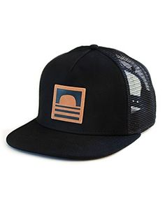 Adjustable Snap Back Breathable Mesh Quality Matereals The post Sundance  Beach Leather Logo Snapback Trucker Hat 4b14484696b9a