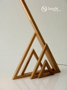 #alpine Tischleuchte: handmade in Munich by #Leuchtmanufaktur. Designer: Otto…