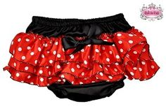 Red, White and Black Polka Dot Bloomers