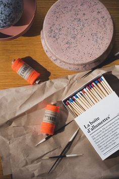 """The design collective """"Studio Be-Poles"""" has a small but fine collection of everyday objects. This matchbox is one of them and brings Parisian chic into your living room. Three colors - red, white, blue. Available in our online shop. Aesthetic still life #diesellerie Home Decor Shelves, Home Decor Kitchen, Home Decor Bedroom, Vase Centerpieces, Vases Decor, Living Room Inspiration, Interior Inspiration, Cushion Cover Designs, Minimalist Interior"""