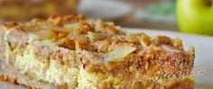 Recept Bezmúčne jablečné řezy s tvarohem Kefir, Nutella, Baked Goods, Banana Bread, Macaroni And Cheese, French Toast, Food And Drink, Sweets, Baking