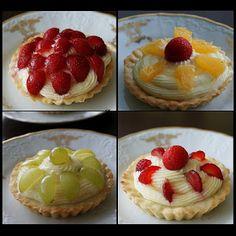 Pradobroty: Tartaletky s tvarohovým krémem a ovocem Mini Tart, Mini Cheesecakes, Pavlova, Finger Foods, Waffles, Minis, Food And Drink, Pudding, Sweets