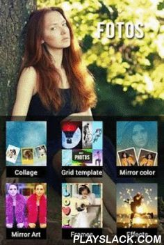 Fotos - Photo Editor & Collage  Android App - playslack.com , Fotos is a huge photo editor app ever. With 6 control to click on menu editor of Fotos, you can do everything you want.6 Tab Editor of Fotos about: Create Collage, Making Grid, Running Mirror Color Style, Editing Mirror Grid Effects, Changing Frames, Overlapping Effects.Main Features of every tab:1) Click Photo collage Tab :+ Editing with 20 Nature Wallpaper Backgrounds.+ Choose 20 Patterns Wallpaper Backgrounds.+ Search…