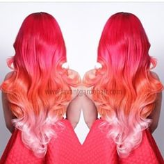 Would never do this but this color is gorgeous!