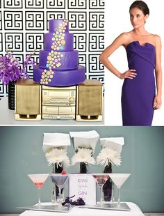 purple and gold wedding cakes | purple_hollywood_wedding_inspiration_board_purple_cake_gold_boombox ...