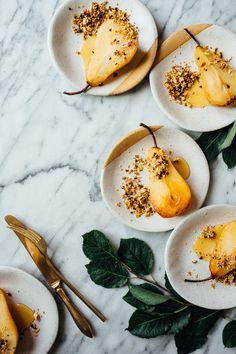Poires pochées au miel et crunch de quinoa #fall