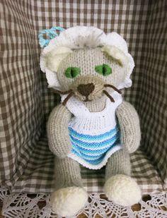 Cat Doll Randya/Valentine's gift/hand knitted by YaGrashka on Etsy