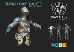 Creating a game character (High Poly), Ivan Mars on ArtStation at https://www.artstation.com/artwork/kB3rA