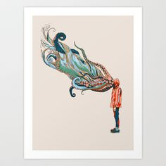 Octopus+in+me+Art+Print+by+Chalermphol+Harnchakkham+-+$22.88