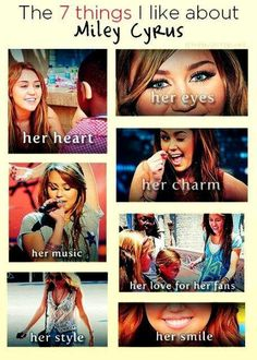 Lets rephrase this. 7 things I lovED about THE OLD Miley Cyrus.
