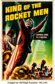 "Movie Posters:Serial, King of the Rocket Men (Republic, R-1956). Trimmed One Sheet(26.25"" X 40.5"").. ..."