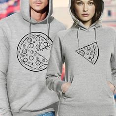 pizza hoodies / couple hoodies / couple sweaters / his and hers hoodies / matching couple hoodies / king and queen hoodies /matching hoodies
