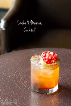 Smoke & Mirrors Cocktail #fall #cocktails