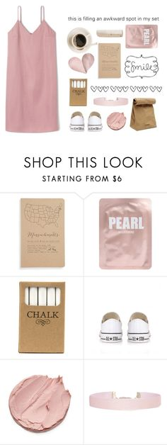 """""""Untitled #47"""" by day-dreaming33 ❤ liked on Polyvore featuring Blackbird Letterpress, Lapcos, Jil Sander, Jayson Home, Converse, Humble Chic and HAY"""