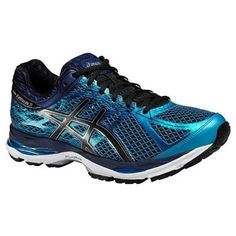 Asics Gel-Cumulus 17 Blue Black Shoes  Get a shoe that's a bit of a Jekyll and Hyde. Once the sun sets, the 360o reflectivity comes to life getting you seen on your favourite routes and making you safer in low light.  Day or night, you get the same elite performance from this cushioning shoe. Your foot bounces off the pavement with the lighter, springier FluidRide 2.0 midsole. #runningshoes #retto #asics