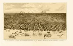 Vintage Map - Detroit, Michigan 1889 on Etsy, $30.00