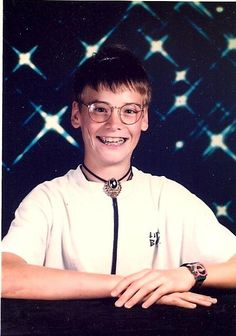 Matt Skiba from Alkaline Trio as a kid. I will never not love this photo.