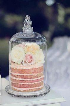 Little cakes display....lovely idea!
