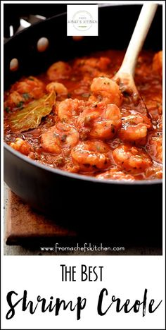 Sharing The Best Shrimp Creole! Friends, this is IT! No need to head down to the Big Easy for some authentic N'Awlins-style cuisine! This New Orleans-inspired dish is one I've been making for clients for as long as I've been a personal chef an Cajun Shrimp Recipes, Shrimp Recipes For Dinner, Seafood Recipes, Cajun And Creole Recipes, Steak Recipes, Cajun Dishes, Shrimp Dishes, Louisiana Recipes, Southern Recipes