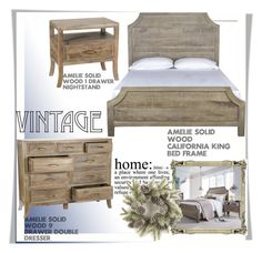 """""""Vintage Style Feminine Bedroom"""" by zinhome ❤ liked on Polyvore featuring interior, interiors, interior design, home, home decor, interior decorating, WALL, bedroom and vintage"""