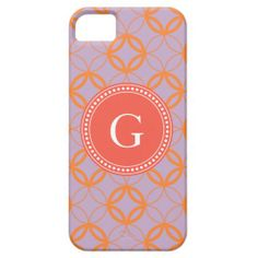 Chic lilac Moroccan circle pattern monogram iPhone 5 Cases. $44.95 *Tint and beyond*