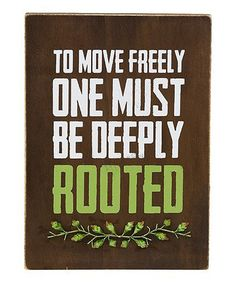Take a look at this 'Deeply Rooted' Wall Art by Grasslands Road on #zulily today!